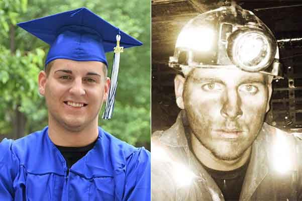 Brandon Pierson of Harlan County, a displaced coal miner, qualified for the program and received funding assistance to attend and graduate from Southeast Community and Technical College with an associate's degree in criminal justice.