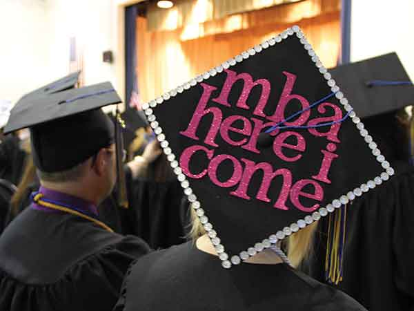 Earning an MBA certification can be a career- and life-changing milestone. One student at Midway University exhibited her enthusiasm about gaining an MBA on her graduation mortar board.