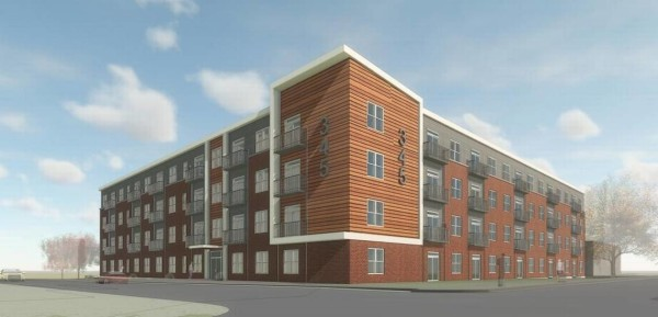 Cowgill Properties started construction on a four-story apartment building at Fourth Street and Blackburn Avenue. The upscale apartment building is scheduled to be completed in the spring. (Kentucky.com)
