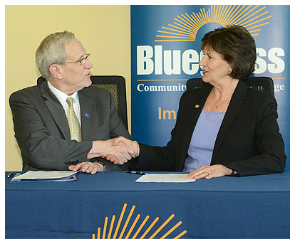 Dr. Augusta Julian, BCTC president and CEO, and Dr. Steven Ralston, MSU provost