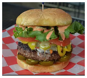 Jacked Up Burger from Cocktails Bar & Grill