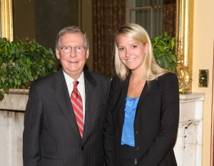 Mitch McConnell and Katelyn Conner