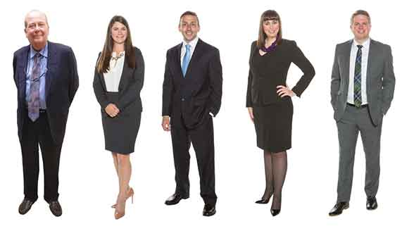(L to R) Calvin Fulkerson, Amber Knouff, Kyle Virgin, Kathryn Eckert  and Chad Thompson