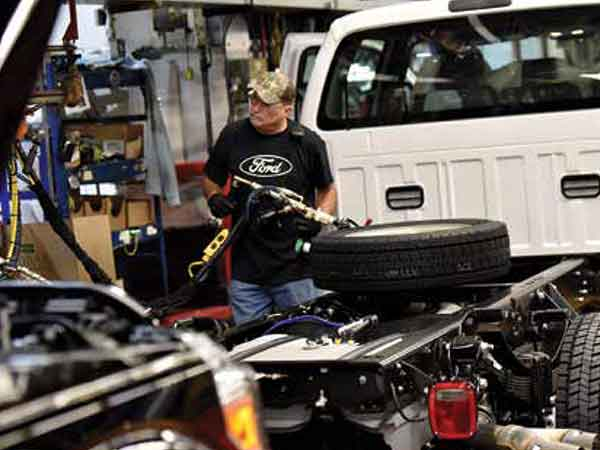 Ford invested $1.3 billion to upgrade facilities at its 48-year-old Kentucky Truck Plant. KTP and Louisville Assembly Plant together produce around 2,000 vehicles a day.