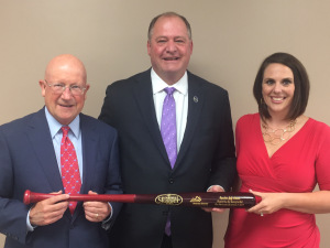From left to right: Kentucky Chamber Board Chair Bill Lear, House Speaker Jeff Hoover and Kentucky Chamber VP of Public Affairs Ashli Watts.
