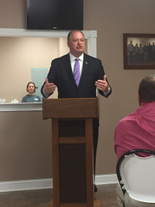 House Speaker Jeff Hoover spoke to the Russell County Chamber of Commerce.