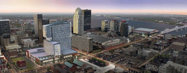 This is an artist rendering of the Omni Louisville Hotel.
