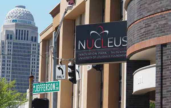 Located in downtown Louisville, Nucleus Innovation Park is a major  resource for technology start-ups.
