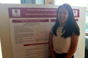 Last summer, Angela Wei presented her research completed during the National Science Foundation-Research Experiences for Undergraduates program in mathematics at Indiana University-Purdue University Indianapolis.