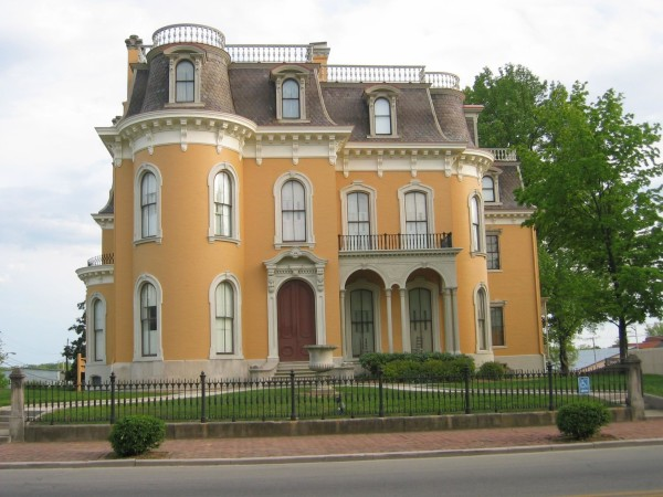 The 20,000-s.f. Culbertson Mansion was built in 1867 and now is a State Historic Site that attracts visitors to New Albany, Ind.
