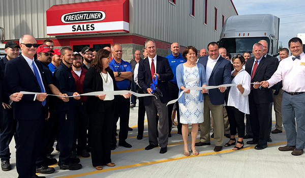 Tim Fyda, president and CEO, cut the ribbon to officially mark the opening the new Northern Kentucky dealership.