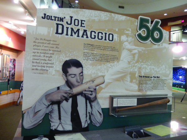Baseball great Joe DiMaggio was one of many major league stars who depended on a Louisville Slugger bat when they stepped up to the plate.