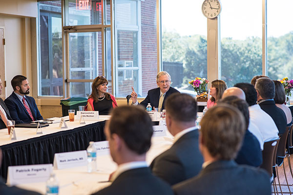 The Chamber gathered legislators at a roundtable Thursday with U.S. Senate Majority Leader Mitch McConnell and Representative Addia Wuchner.