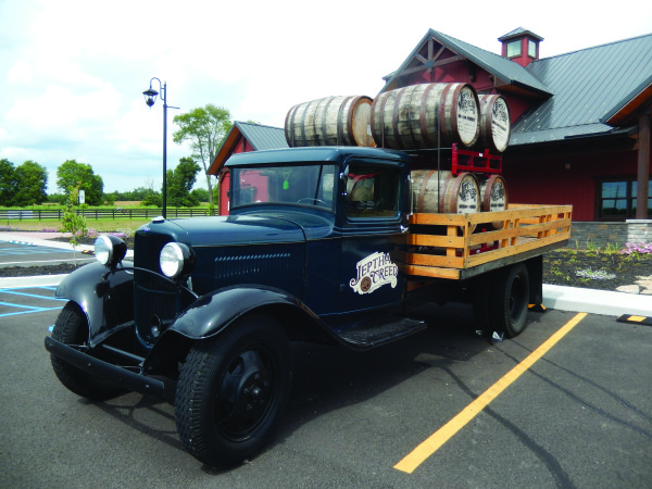 The new Jeptha Creed Distillery is right alongside the eastbound lanes of I-64 in Shelby County.