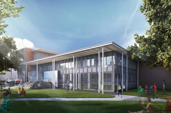 Arhitectural renderings show a planned $56 million renovation of the UK College of Law.