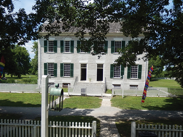The Centre Family Dwelling building at Shaker Village of Pleasant Hill is one of 34 original structures at the Central Kentucky property, which is the state's largest National Historic Landmark.