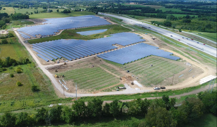 Cooperative Solar Farm One is a 60-acre solar energy facility located in Clark County, Ky.