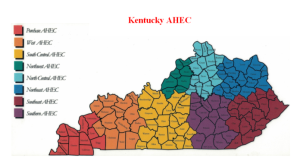 Counties served by the eight Kentucky AHEC offices.