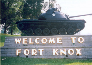 Fort Knox, located south of Louisville, Ky.