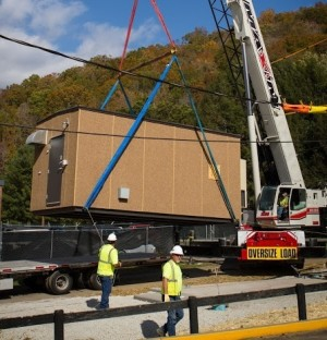 The hut is 15 feet wide, 22 feet long, and 9 feet high and was placed just outside the KSP post, along with a generator.