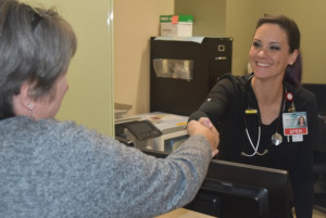Barbra Cave, MSN, APRN, right, leads the new UofL Hospital Hep C Center.