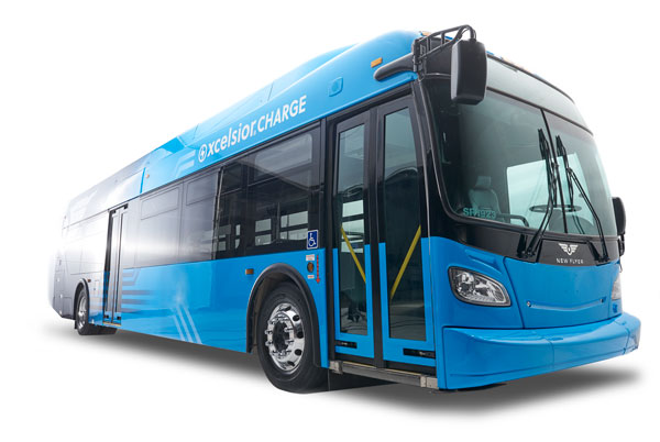 Xcelsior CHARGE is New Flyer's next generation battery-electric bus.