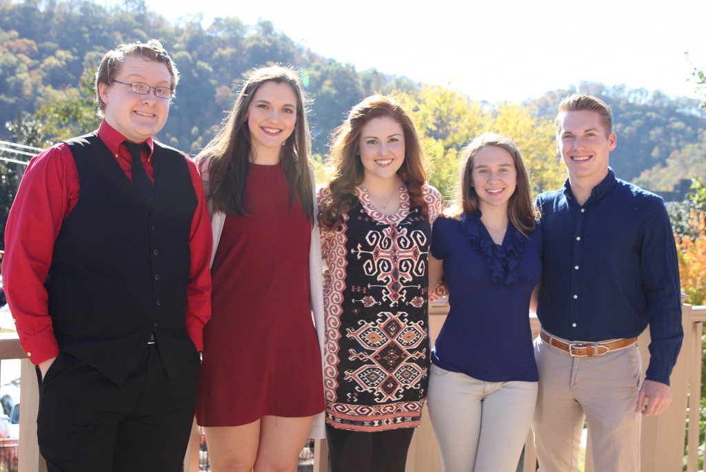 Pictured, from left: Adam Hotelling, Morgyn Dixon, Haley Osborne, Ashley Belcher, and Nathaniel Simpson.