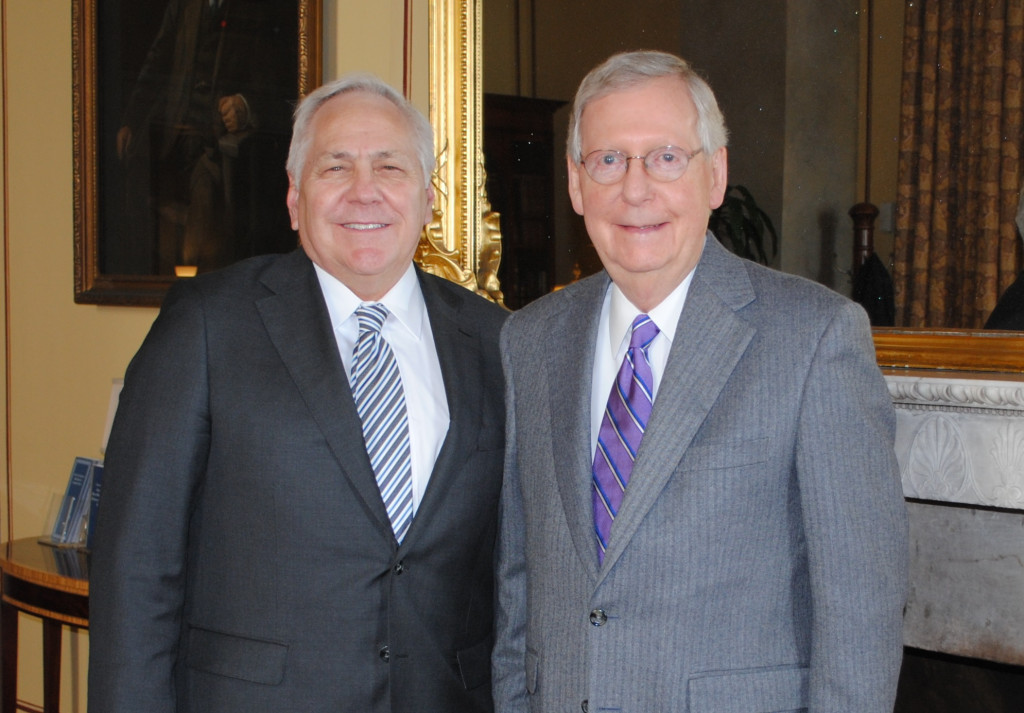 Dr. Box and Senator McConnell in the U.S. Capitol