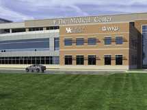 A rendering of the satellite campus of the University of Kentucky College of Medicine-Bowling Green. Construction is scheduled  for completion by the summer of 2018.