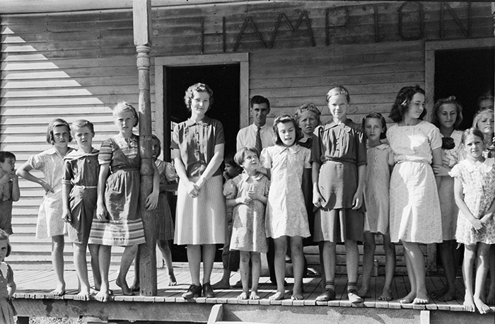 This photo of students at a Breathitt County school was taken by Marion Post Wolcott. Wolcott was a photographer with the Farm Security Administration (FSA), an initiative of President Franklin D. Roosevelt's New Deal. She was among several photographers sent across the country from 1935-43 to document rural American life during the Great Depression.
