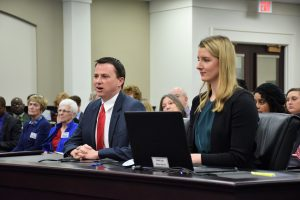Travis Burton of the Kentucky Chamber and Lucy Davidson of the U.S. Chamber of Commerce Foundation.