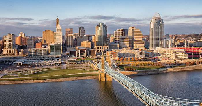 Riverfront vistas are just one of the benefits of Hamilton County. It also benefits from easy interstate and international airport access.