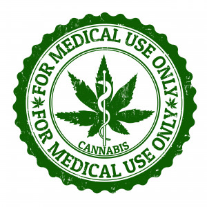 Medical marijuana grunge rubber stamp, vector illustration