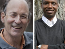 Tracy Kidder, left, and Deogratias Niyizonkiza, right.