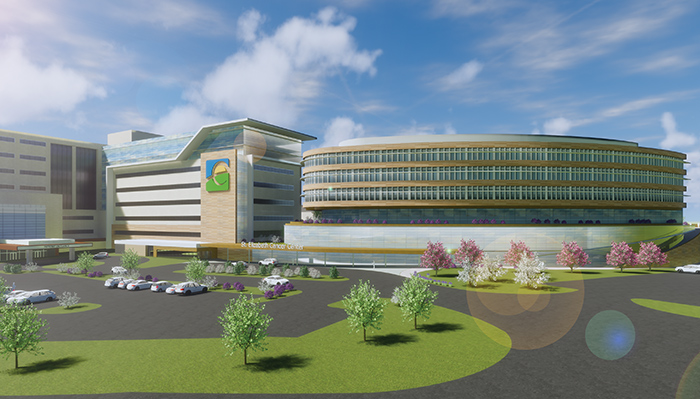 St. Elizabeth Healthcare last year revealed plans to spend more than $100 million to build a cancer care facility (conceptual rendering shown).