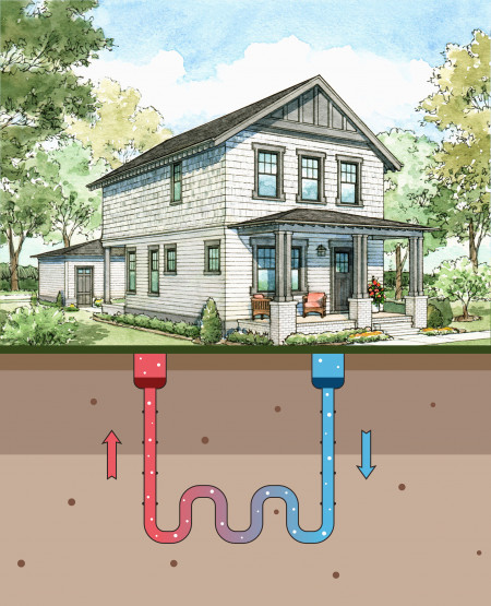 Norton Commons Geothermal Illustration- Credit Norton Commons