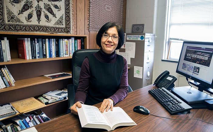 "Dr. Mina Yazdani, who has lived in four countries, considers herself a ""citizen of the world,"" adding that she sees her EKU students ""in the same light as the youth she taught in Iran."""