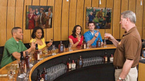 Visitors here are participating in an educational tasting during a tour at Heaven Hill Distillery in Bardstown.