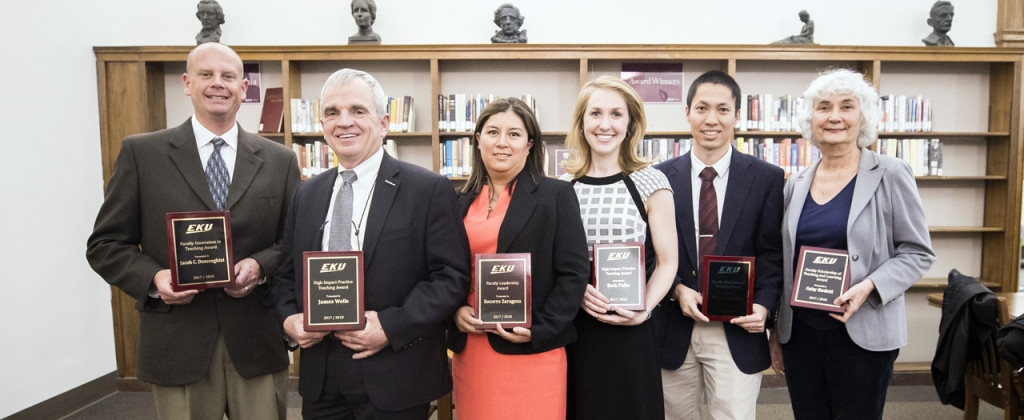 From left: Dr. Jacob Domenghini, Dr. James Wells, Dr. Socorro Zaragoza, Dr. Beth Polin, Dr. Hung-Tao Chen, Dr. Gaby Bedetti.